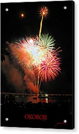 Fireworks At Lake Okoboji Acrylic Print