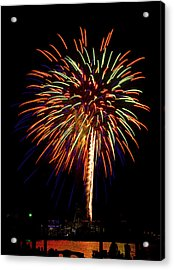 Acrylic Print featuring the photograph Fireworks by Bill Barber