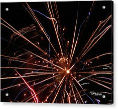 Acrylic Print featuring the photograph Fireworks Blast #0703 by Barbara Tristan