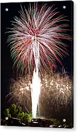 Fireworks Acrylic Print by Ernesto Grossmann
