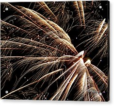 Acrylic Print featuring the photograph Fireworks Evolution #0710 by Barbara Tristan