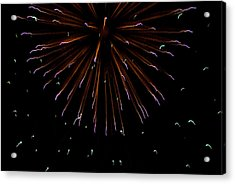 Fireworks Explode In The Air In Kansas Acrylic Print by Joel Sartore