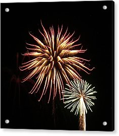 Fireworks From A Boat - 10 Acrylic Print