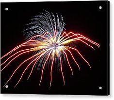 Fireworks From A Boat - 11 Acrylic Print