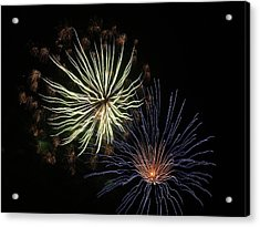 Fireworks From A Boat - 14 Acrylic Print