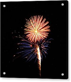 Fireworks From A Boat - 25 Acrylic Print