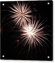 Fireworks From A Boat - 5 Acrylic Print