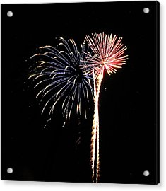 Fireworks From A Boat - 7 Acrylic Print