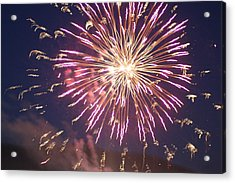 Acrylic Print featuring the digital art Fireworks In The Park 2 by Gary Baird