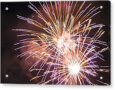 Acrylic Print featuring the digital art Fireworks In The Park 3 by Gary Baird