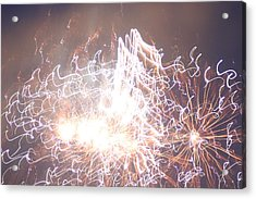 Acrylic Print featuring the digital art Fireworks In The Park 6 by Gary Baird