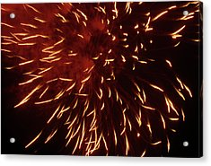 Fireworks Light Up The Sky While Celebrating Bastille Day Acrylic Print by Sami Sarkis