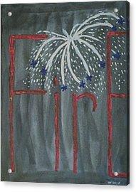 Fireworks Acrylic Print by Nannette Kelly