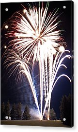 Fireworks No.3 Acrylic Print by Niels Nielsen