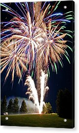 Fireworks No.4 Acrylic Print by Niels Nielsen