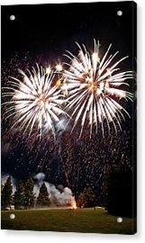 Fireworks No.5 Acrylic Print by Niels Nielsen