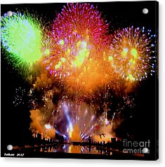 Fireworks On July 14 By Taikan Acrylic Print