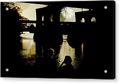 Fireworks On The River Acrylic Print