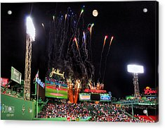 Fireworks Over Fenway Park - Boston Acrylic Print by Joann Vitali