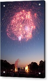 Fireworks Over Lincoln Acrylic Print by Colleen Joy