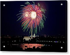 Fireworks Over The Pentagon Acrylic Print