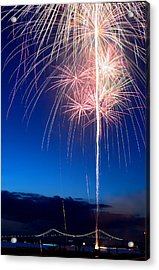 Fireworks Acrylic Print by Ravi Kiran