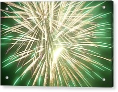 Fireworks Acrylic Print by Ronald Britton