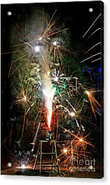 Acrylic Print featuring the photograph Fireworks by Vivian Krug Cotton
