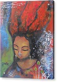 Firey Hair Girl Acrylic Print
