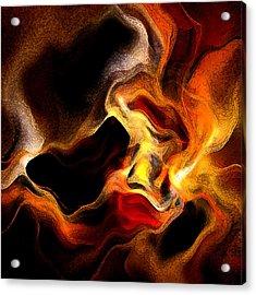Firey Acrylic Print by Ruth Palmer