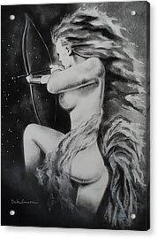 Firey Sagittarius Shooting Stars Acrylic Print by Carla Carson
