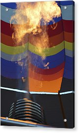 Firing Up Acrylic Print by Linda Geiger