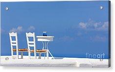 Firostefani, Santorini, Greece Acrylic Print