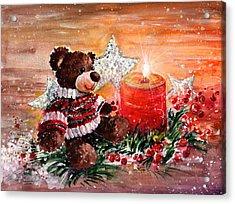 First Advent For Truffle Mcfurry Acrylic Print by Miki De Goodaboom