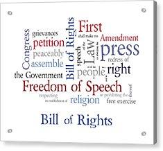 First Amendment - Bill Of Rights Acrylic Print