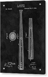 First Baseball Bat Patent Illustration Acrylic Print