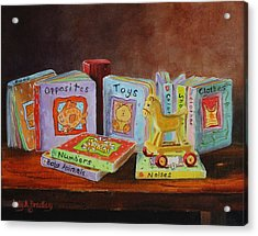 First Books Acrylic Print