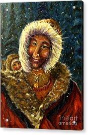 First Christmas Snow Acrylic Print
