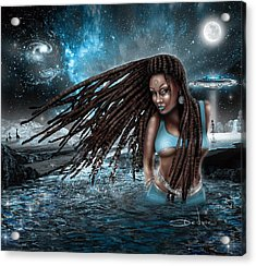 Acrylic Print featuring the digital art First Contact by Dedric Artlove W