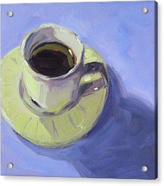 Acrylic Print featuring the painting First Cup by Nancy Merkle