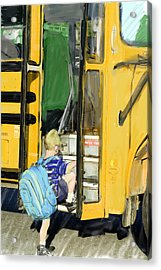First Day Bus Ride Acrylic Print by Ken Gimmi