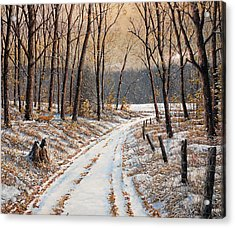 First Day Of Winter Acrylic Print by Jake Vandenbrink