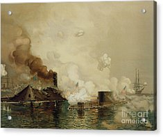First Fight Between Ironclads Acrylic Print