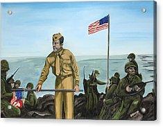 First Flag Raising Iwo Jima Acrylic Print