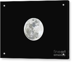 Acrylic Print featuring the photograph First Full Moon Of 2016 by Eddie Yerkish