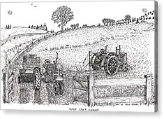 Acrylic Print featuring the drawing First Hay Crop by Jack G  Brauer