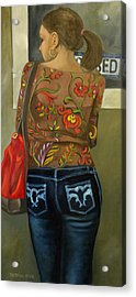 First In Line Acrylic Print by Bertica Garcia-Dubus