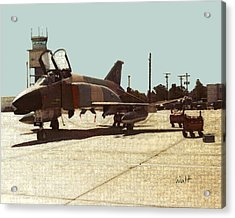 Acrylic Print featuring the digital art First Jet by Walter Chamberlain