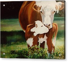 First Kiss Acrylic Print by Valerie Aune