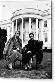 First Lady Eleanor Roosevelt, And Wife Acrylic Print by Everett